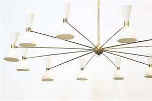 Grand Lustre Design : grand lustre italien moderne 12 branches stilnovo sarfatti ~ Melissatoandfro.com Idées de Décoration