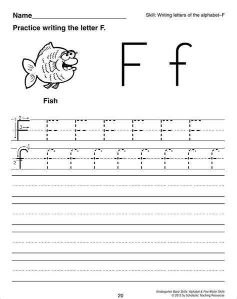 letter f tracing worksheet kindergarten pinterest