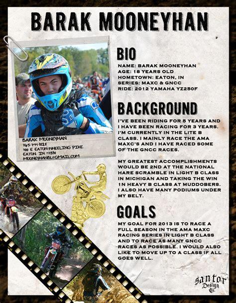 motocross sponsor resume sle 2013 barak mooneyhan sponsorship resume