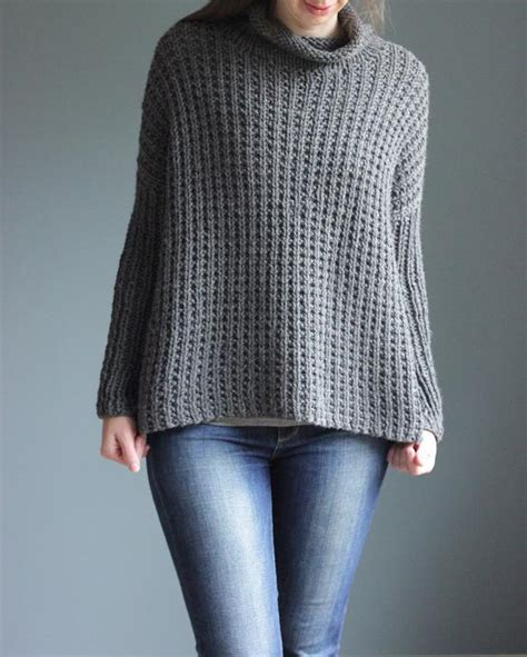 Simple Boat Neck Sweater Pattern by Easy To Wear Pullover Sweater Knitting Patterns