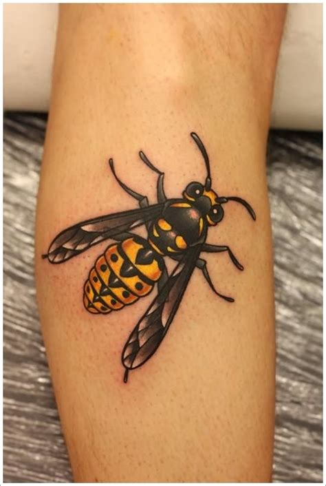 traditional bee tattoos