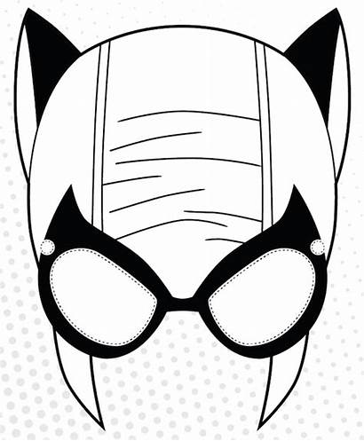 Mask Template Superhero Pages Coloring Face Masks