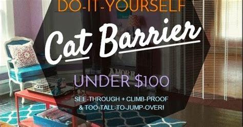 lovely side diy cat barrier