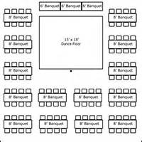 party table and chair rentals tent layouts seating capacity chart aa party and tent