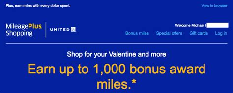 earn    bonus united miles  mileageplus shopping