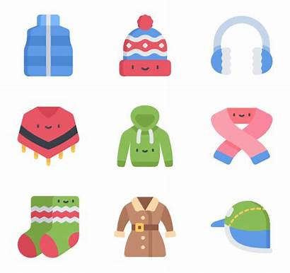 Winter Clothes Clothing Icon Accessories Packs Icons
