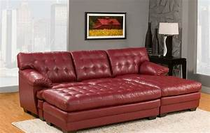 7 best red leather sofa reviews in 2017 best cheap for Cheap red leather sectional sofa