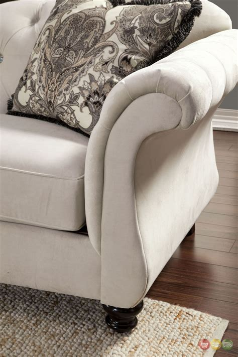 Loveseat Settee by Antoinette Button Tufted Transitional Living Room