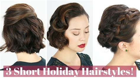 short hair holiday hairstyles youtube