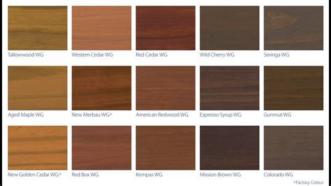 deck stain color chart youtube