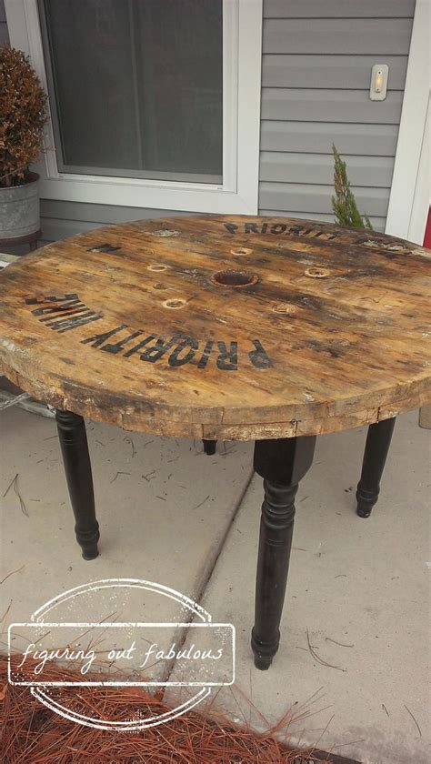 spool table black legs spool furniture spool tables
