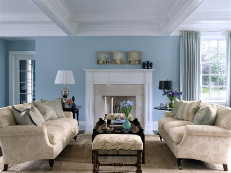 Living Room With Blue Decor by Sky Blue And White Scheme Color Ideas For Living Room