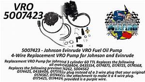 Comparing The Different Evinrude Johnson Vro Pump Models