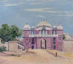Gate of Rajah's Palace, Benares, India, 1880 - Marianne ...