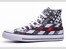 Unisex Red CONVERSE American Flag Print Chuck Taylor All