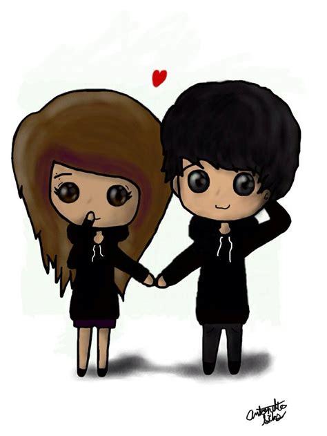 cute chibi couples images  pinterest anime