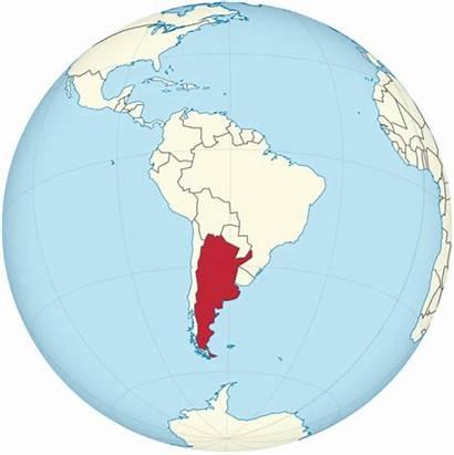 Argentina Ecuador Globe Svg America South Centered