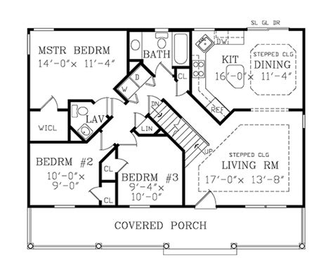 house floor plans country style house plan 3 beds 2 baths 1040 sq ft plan 456 31
