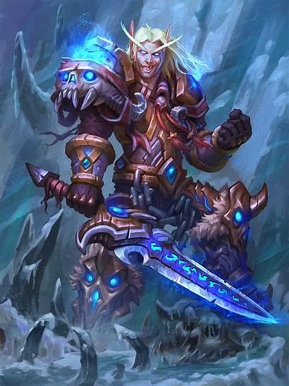Knight Death Paladin Artstation Knights Elf Hearthstone