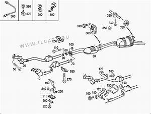 W210 Metal Muffler Support Stripped Threads