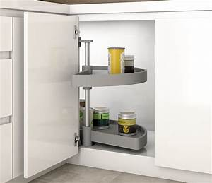 Magic Corner Carousel For Kitchen Units 1  2 Moon Pull Out
