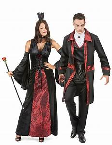 Costume Coppia Di Vampiri Rosso E Nero Halloween Costumi