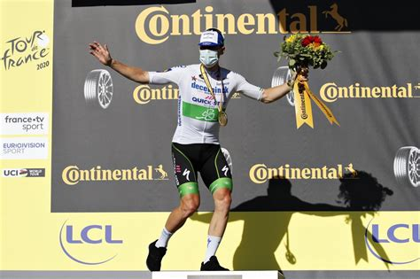 He even had time for a victory celebration as he crossed. Sam Bennett breaks the ice at the Tour de France ...