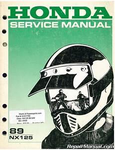 Used 1989 Honda Nx125 Motorcycle Repair Workshop Service