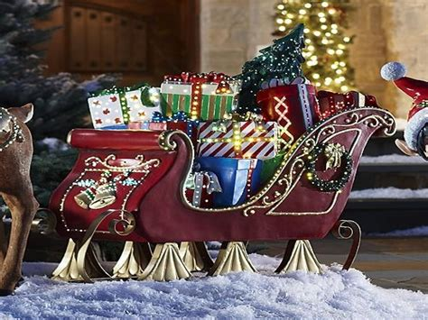 horse sleigh outdoor christmas decorations www