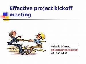 effective project kickoff meeting With project kickoff meeting presentation template