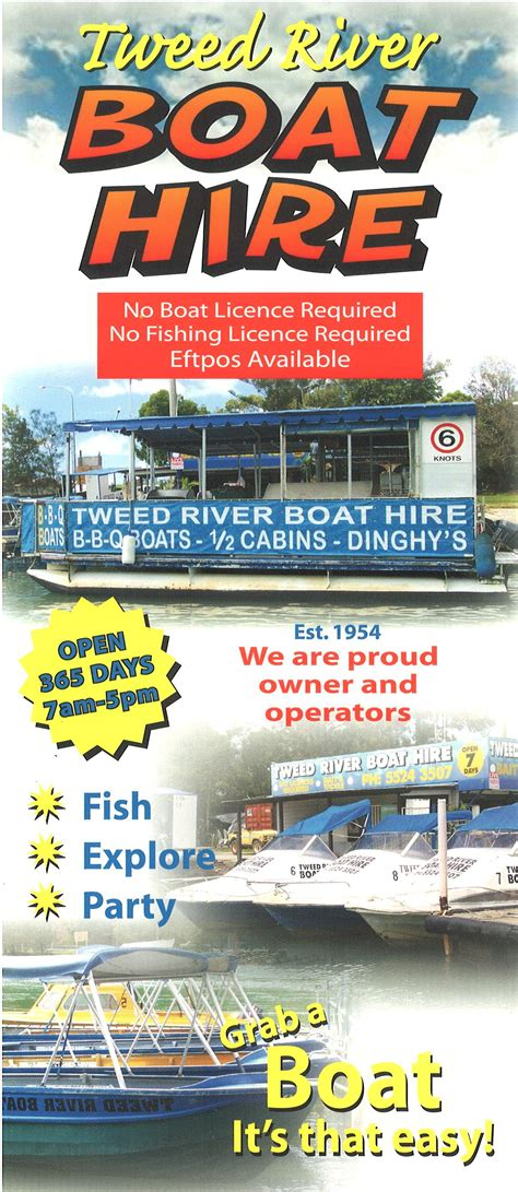 Fishing Boat Hire Surfers Paradise by Tweed River Boat Hire Surfers Paradise Brochure Service