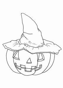 Citrouille Halloween Dessin : coloriage halloween citrouille chapeau sur ~ Melissatoandfro.com Idées de Décoration