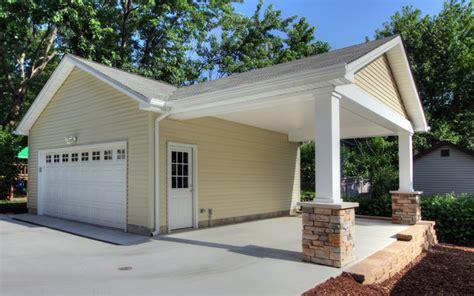 Add Garage Door To Carport by Adding A Carport To Garage Contemporary Garage And