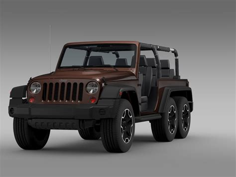 jeep models jeep wrangler rubicon 6x6 2016 3d model in 3d studio 3ds