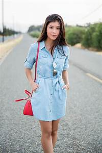 How to Wear a Chambray Shirtdress