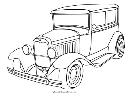Old Car Coloring Adult Coloring Pages