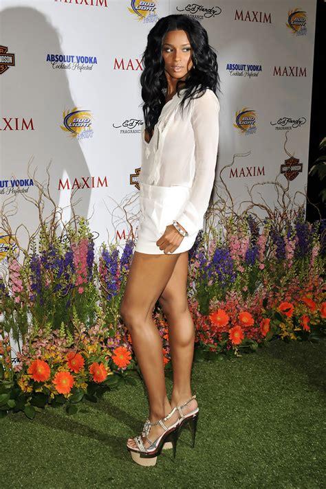 ciara   annual maxim hot  party arrivals zimbio