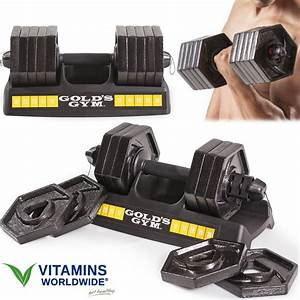 Dumbbell Set Adjustable Weight Plates 30 Lb Cast Iron Speedlock Fitness Exercise