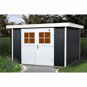 Gartenhaus 3 X 3 M : weka gartenhaus colore 3 wandst rke 21 mm anthrazit flachdach bauhaus ~ Whattoseeinmadrid.com Haus und Dekorationen