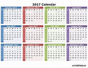 Printable 2017 Calendar | 2017 Printable Calendar | Daily ...