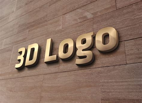 3d Logo Text Mockup Smart Object Psd Free 3d Office Wall Sign Logo Mockup Psd Mockups