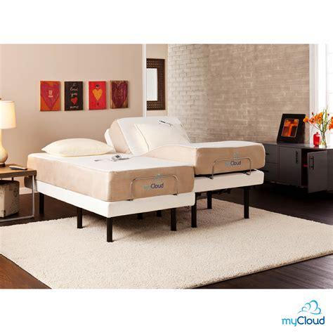 sei mycloud split king size adjustable bed frame