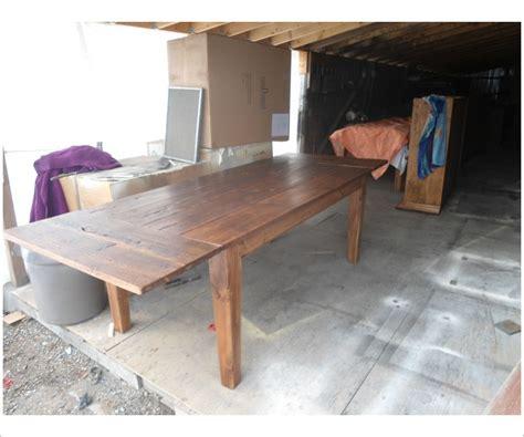 foot reclaimed wood harvest table