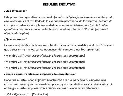 resumen ejecutivo ejemplo image mag