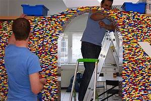 NPIRE's LEGO Wall acts as a pixelated office divider ...