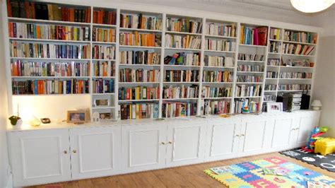 Wall To Wall Bookcase Plans by Teak Veneer Bookcase Wall Bookshelves Build Plans