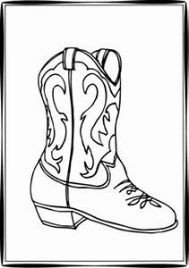 Pin Cowgirl Boots Colouring Pages on Pinterest