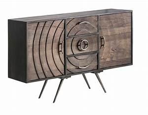 Buffet Metal Et Bois : buffet design vical concept en bois et m tal ~ Melissatoandfro.com Idées de Décoration