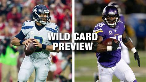 seahawks  vikings wild card  preview nfl
