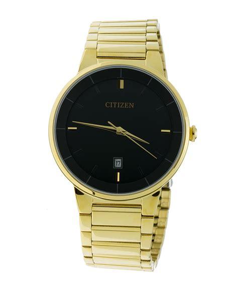 Citizen Bi501253e Gold Tone Black Dial Men Quartz Wr050. St Michael Necklace. 10k Gold Rings. Logo Bracelet. Plain Gold Bands. Mega Watches. Gold Design Bracelet. 2mm Platinum Band. Emerald Gemstone